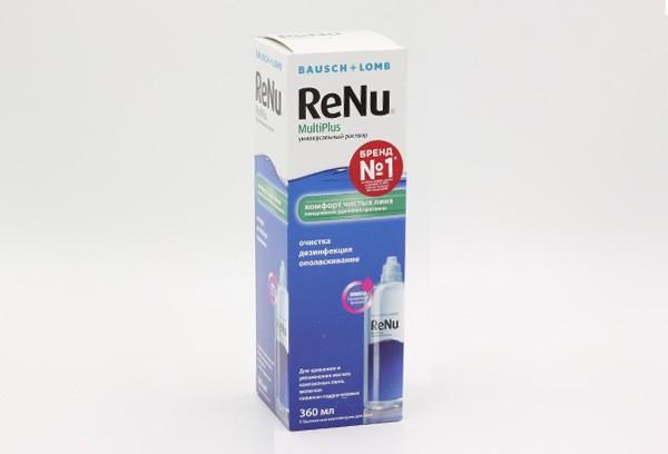 Раствор ReNu МультиПлюс д/конт линз 360мл – цена от 465.60 руб., купить в онлайн-аптеке в Хабаровске
